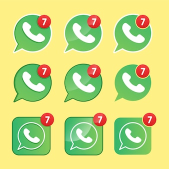 Modern phone icon in green bubble speech