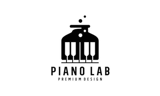 Modern piano lab logo design