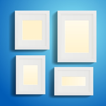 Modern picture or photo frames with shadows