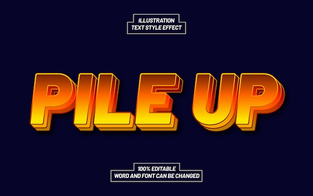 Modern pile up text style effect