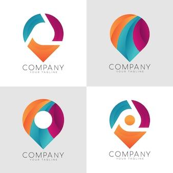 Modern pin logo