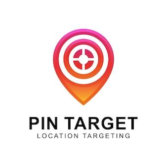 Modern pin target or location targeting logo, map logo, business marketing logo