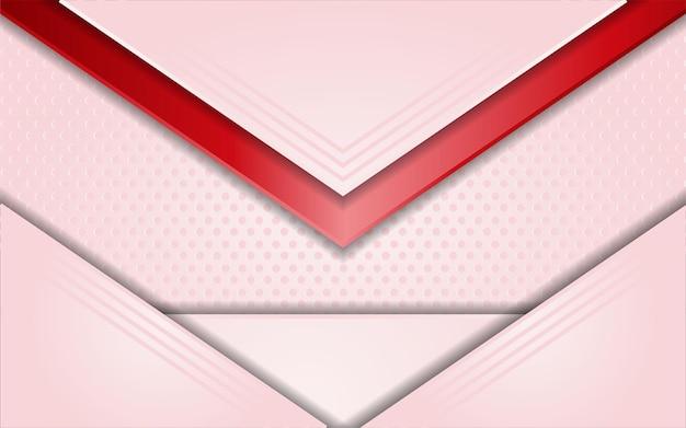 シンプルな赤い線要素とモダンなピンクの背景