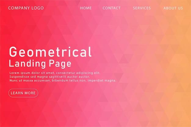 Modern pink geometrical landing page