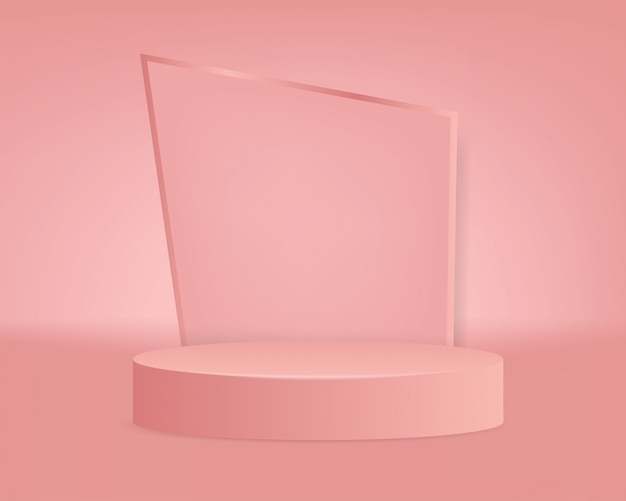 Modern pink podium background