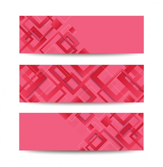 Modern pink square gradient trendy template banner