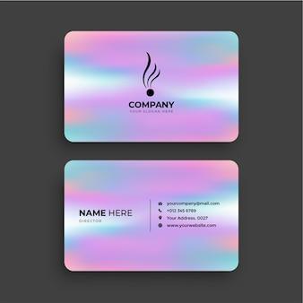 Современная визитная карточка с градиентом розовых тонов бесплатные векторы