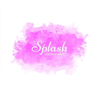 Modern pink watercolor splash background