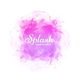Modern pink watercolor splash design vector