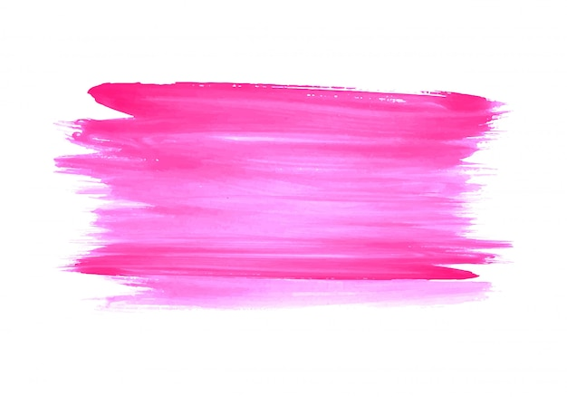 Modern pink watercolor strokes