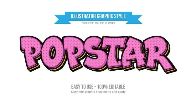 Современный розовый с точками мультяшный стиль текста граффити