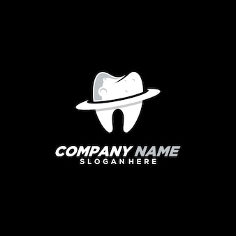 Modern planet dental logo template