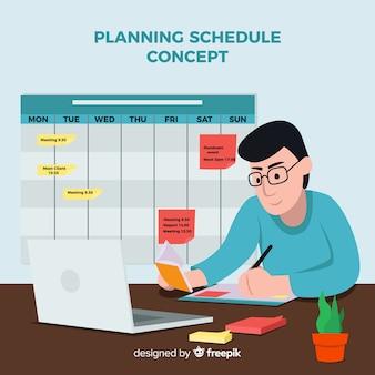 Modern planning schedule concept