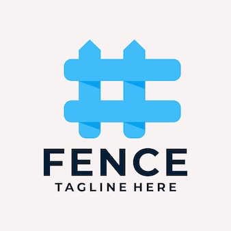 Modern and playful fence logo vector