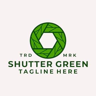 Modern and playful shutter leaf logo vector