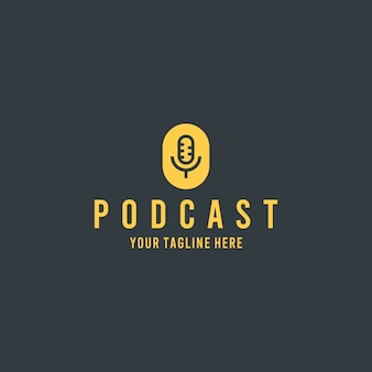Modern podcast template logo