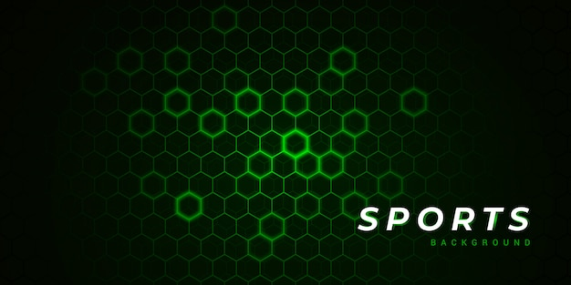 Modern polygon green sports background