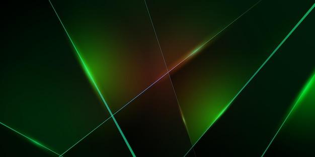 Современная форма многоугольника размерности абстрактные слои фона с красочным светом