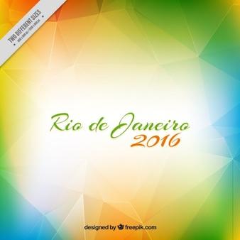 Modern polygonal background of rio 2016