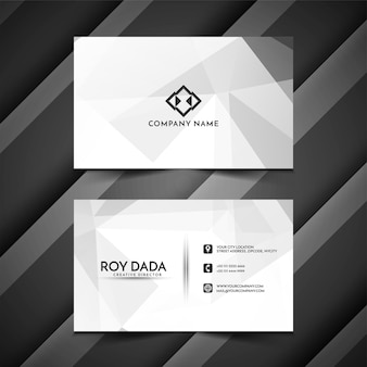 Современная многоугольная визитка