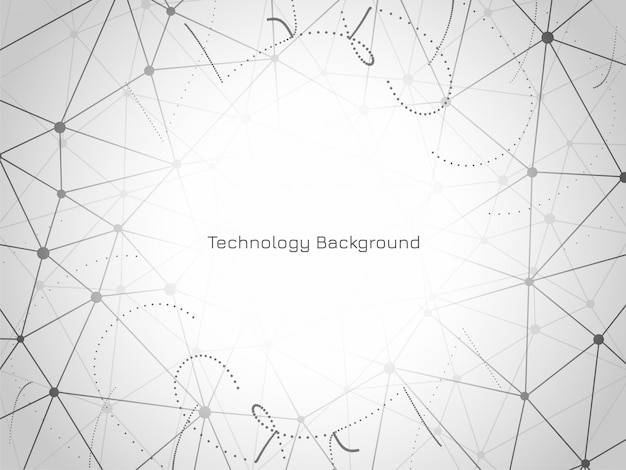 Modern polygonal technology background