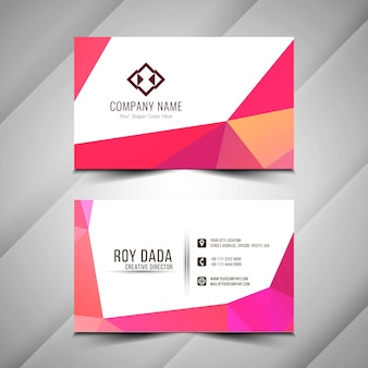 Modern polygonal visiting card template