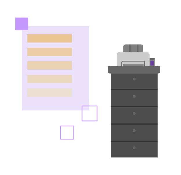 현대 거짓말 인쇄 장비 평면 만화 벡터 일러스트 레이 션 절연
