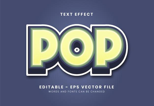 Modern pop style text effect