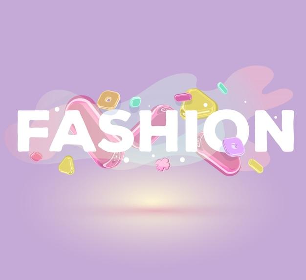 影と紫色の背景に明るい水晶要素を持つモダンな肯定的な碑文ファッション。