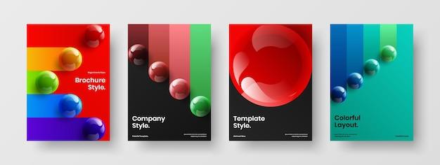 Современный плакат a4 дизайн векторные иллюстрации коллекции