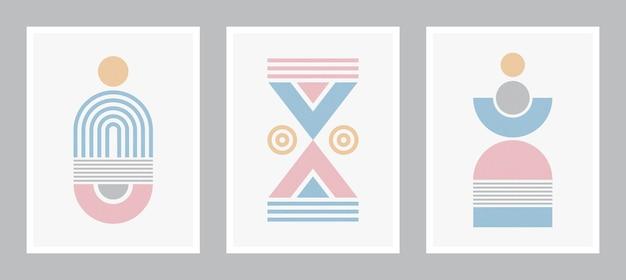 현대 포스터 예술. 추상 벽 예술. grunge 텍스처와 디지털 인테리어 장식 예술입니다.