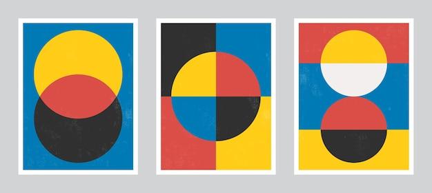 現代ポスターアート。抽象壁アート。グランジテクスチャのデジタル室内装飾アート。