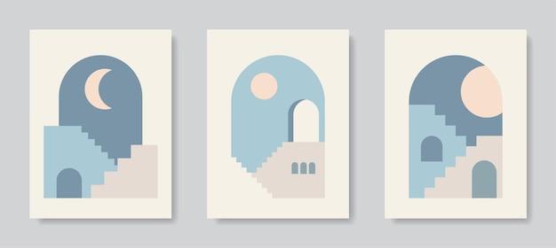 현대 포스터 예술 추상 벽 예술 디지털 인테리어 장식 예술