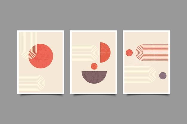 Modern poster boho contemporary wall art collection