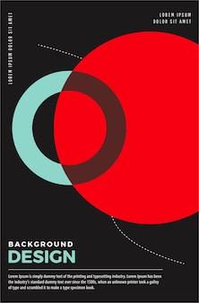 현대 포스터 디자인 템플릿입니다.
