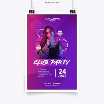 Modern poster template with abstract shapes