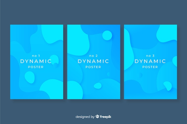 Modern poster template with dynamic shapes