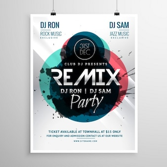 Modern poster with circular shapes for a party