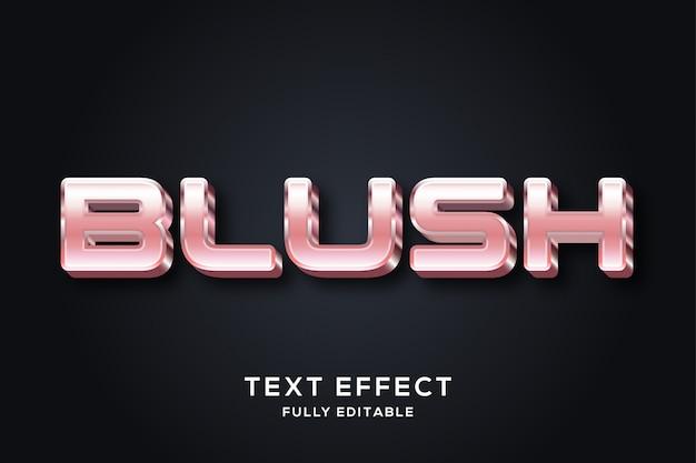 Современный премиум розовый редактируемый текстовый эффект