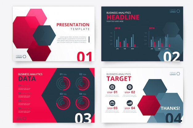 Modern presentation template for business