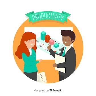Современная концепция производительности с плоской конструкцией