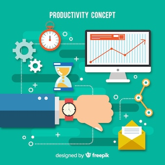 Modern productivity concept with flat design