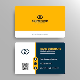 Modern and profesional coporate business card template