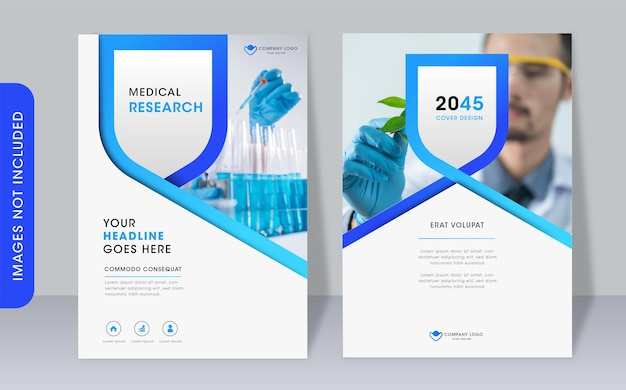 Modern professional book cover template