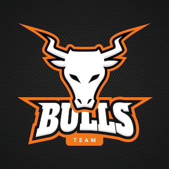Modern professional bull logo for a sport team.