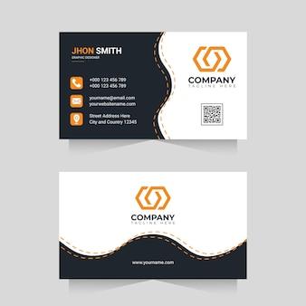 Modern professional business card design template