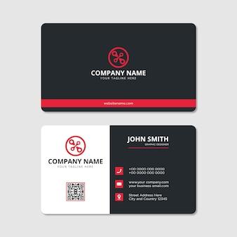 Современный профессиональный дизайн визитной карточки вектор