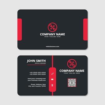 Modern professional business card design vector