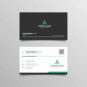 Modern professional business card design