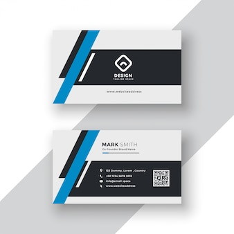 Modern professional business card template design
